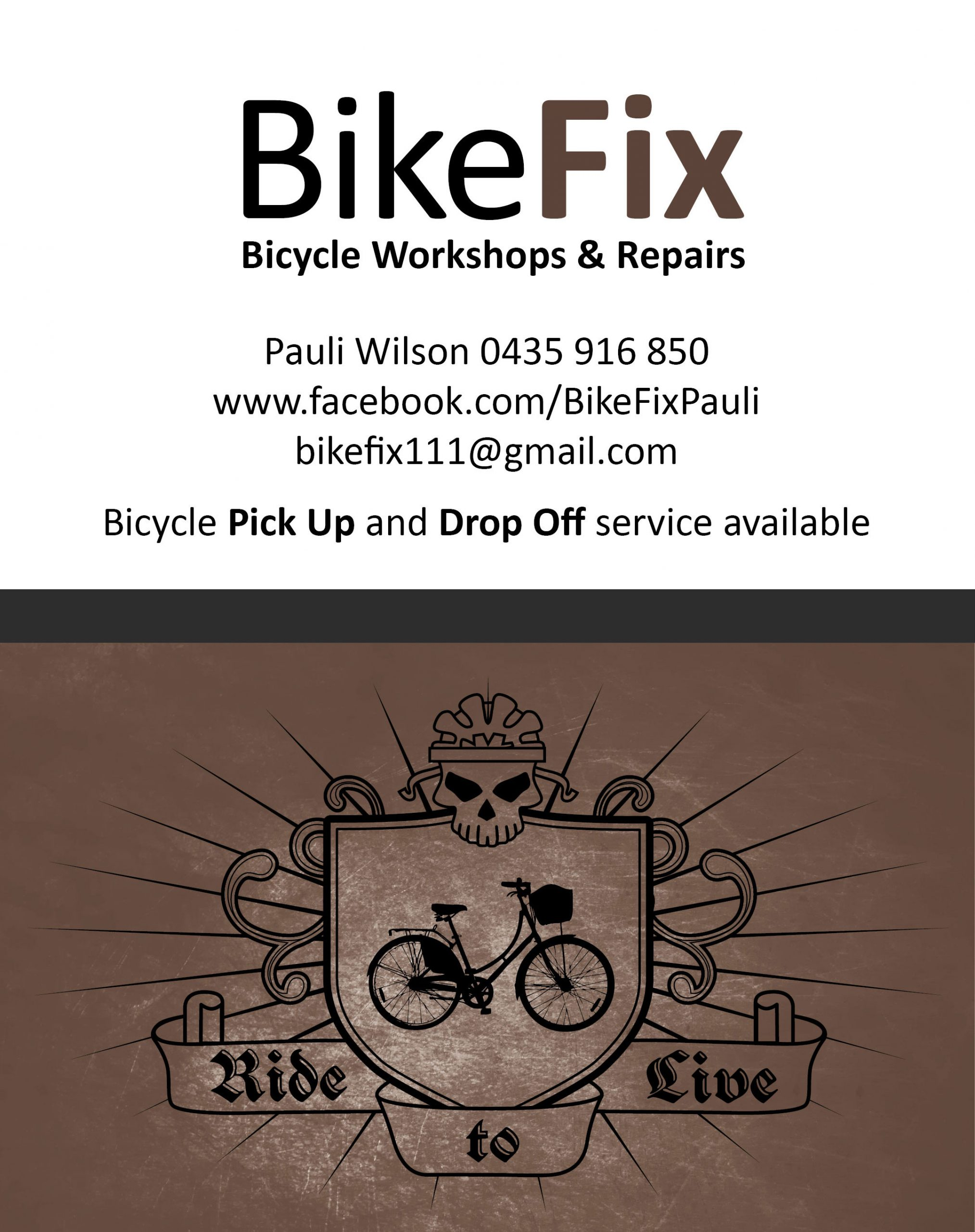 Bike Fix business card designed by Karen Batten – Create Together ...